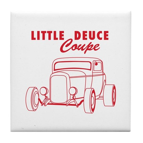 Hot Rod Ford Deuce Red Tile Coaster