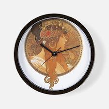 Alphonse Mucha Wall Clock