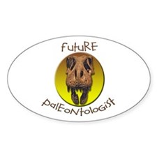 Future paleontologist Oval Decal