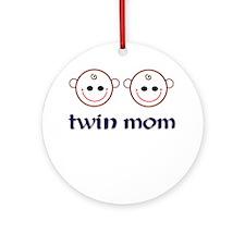 Twin Mom Ornament (Round)