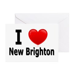 I Love New Brighton Greeting Cards (Pk of 10)