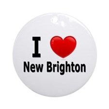 I Love New Brighton Ornament (Round)