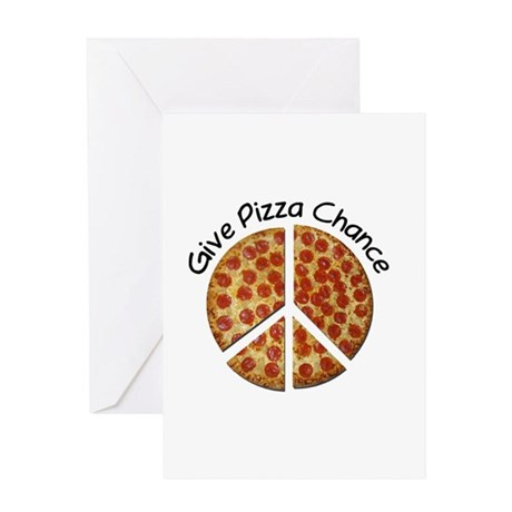 2-givepizza Greeting Cards