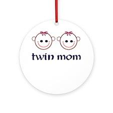 Twin Mom (girls) Ornament (Round)
