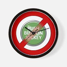 No Push Button Jockey Wall Clock