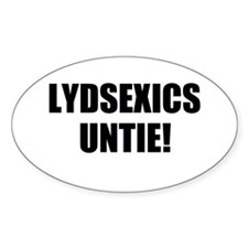 Dyslexics Unite! Oval Decal
