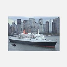 QE2 New York Final Departure Rectangle Magnet