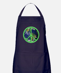 Earth Peace Symbol Apron (dark)