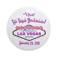 Bridesmaid Personalized Vegas Ornament (Rd)