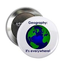 """Geography 2.25"""" Button"""
