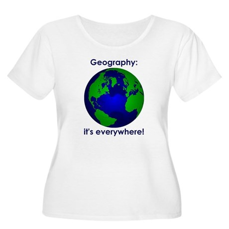 Geography Women's Plus Size Scoop Neck T-Shirt