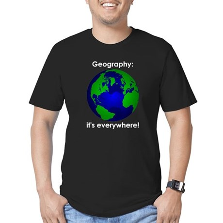 Geography Men's Fitted T-Shirt (dark)