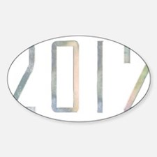 2012 Oval Decal
