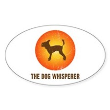 The Dog Whisperer Oval Decal