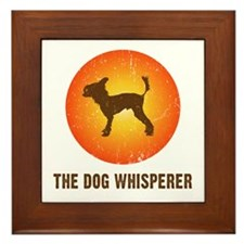 The Dog Whisperer Framed Tile