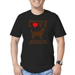 Choose a Dog You Love Men's Fitted T-Shirt (dark)