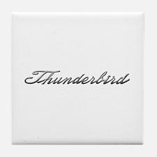 Ford Thunderbird Script Tile Coaster