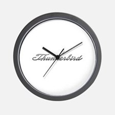 Ford Thunderbird Script Wall Clock