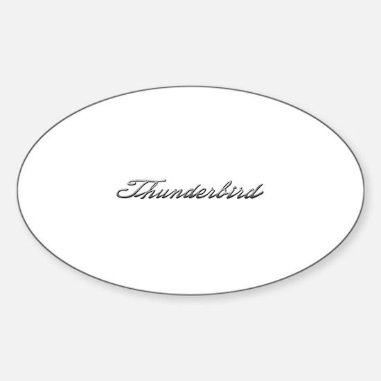 Ford Thunderbird Script Oval Decal