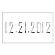 12.21.2012 Rectangle Decal