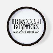 BronXXVII Bombers Roman Wall Clock