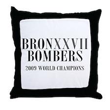 BronXXVII Bombers Roman Throw Pillow