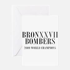 BronXXVII Bombers Roman Greeting Card