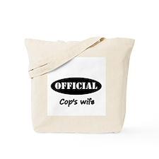 Cop Wife Tote Bag