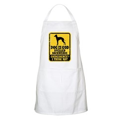 Dog Is God Apron