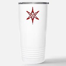 Curved Hexagram Stainless Steel Travel Mug (blood)