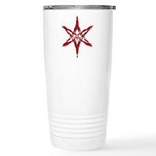Curved Hexagram Travel Mug (blood)