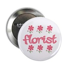 "Floral Florist 2.25"" Button (10 pack)"