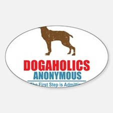Dogaholics Oval Decal