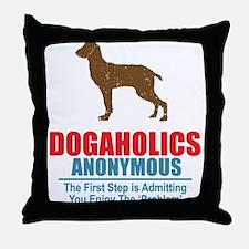 Dogaholics Throw Pillow