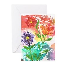Water Color Daisies Greeting Cards