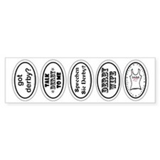 Derby Helmet Bumper Stickers 1 Bumper Bumper Sticker