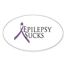Epilepsy Sucks Oval Decal