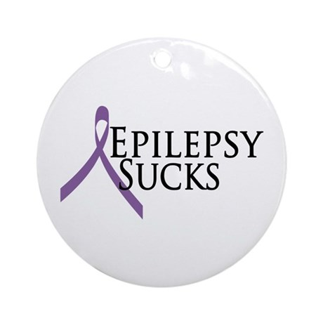 Epilepsy Sucks Ornament (Round)