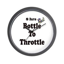 8hrs Bottle To Throttle Wall Clock