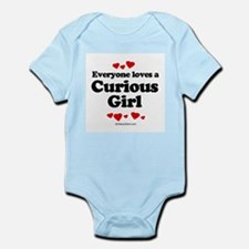 Everyone loves a Curious Girl -  Infant Creeper