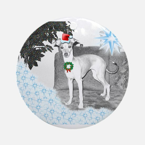 Italian Greyhound Christmas Ornament (Round)