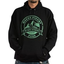 Machu Picchu Hooded Sweatshirt Black or Navy