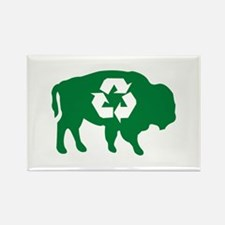 Buffalo Recycle Rectangle Magnet