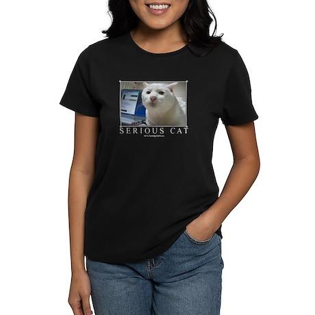 Serious Cat Women's Dark T-Shirt