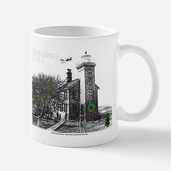 Turtle Island Lighthouse Christmas Mug