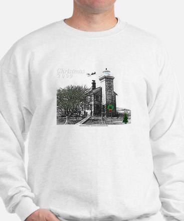 Turtle Island Lighthouse Christmas Sweatshirt