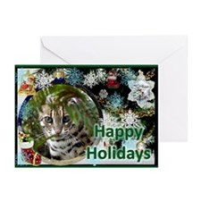 Bengal Cat Christmas Greeting Cards (Pk of 10)
