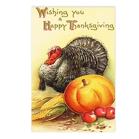 Vintage Thanksgiving Postcards (Package of 8)