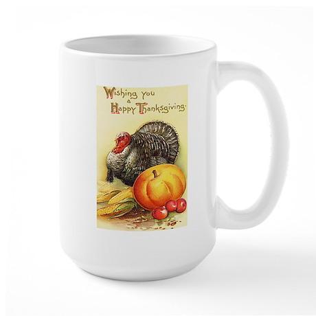 Vintage Thanksgiving Large Mug