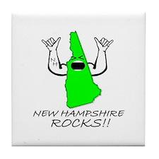 NEW HAMPSHIRE ROCKS!! Tile Coaster